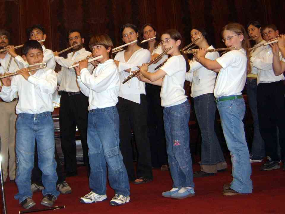 Final flute concert at the festival in Argentina