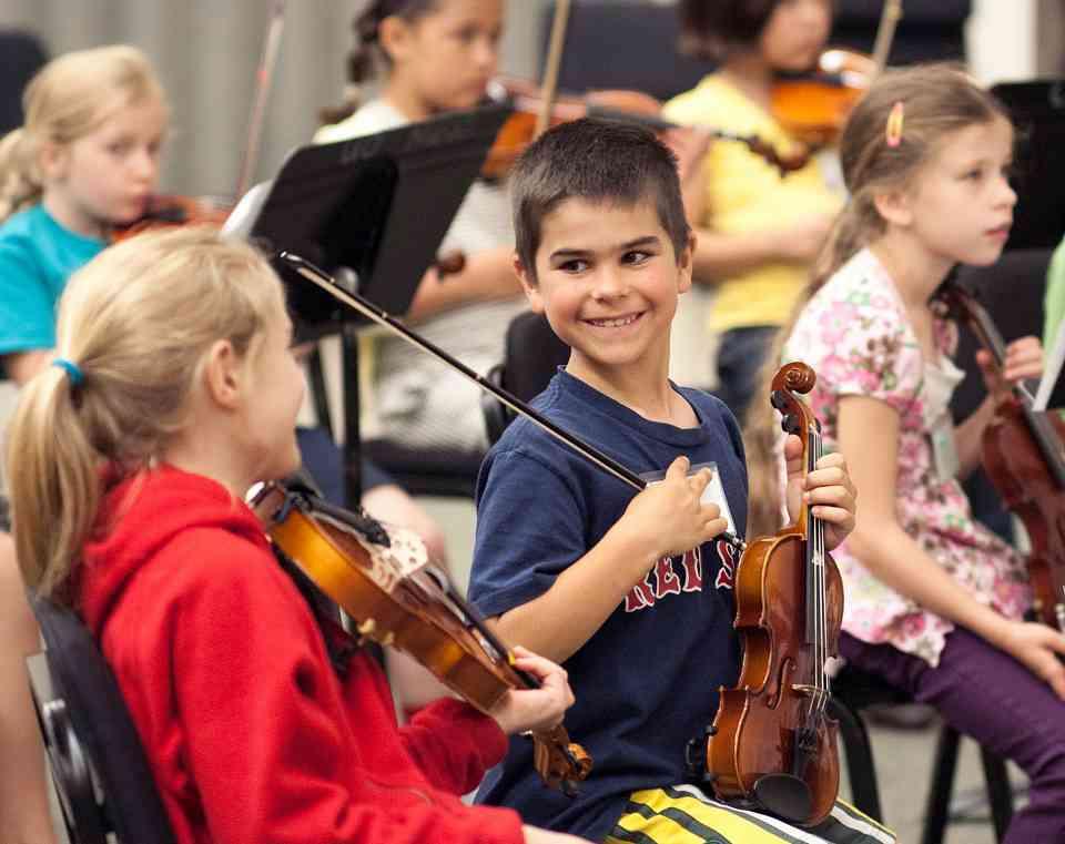Orchestra rehearsal at Northwest Suzuki Institute