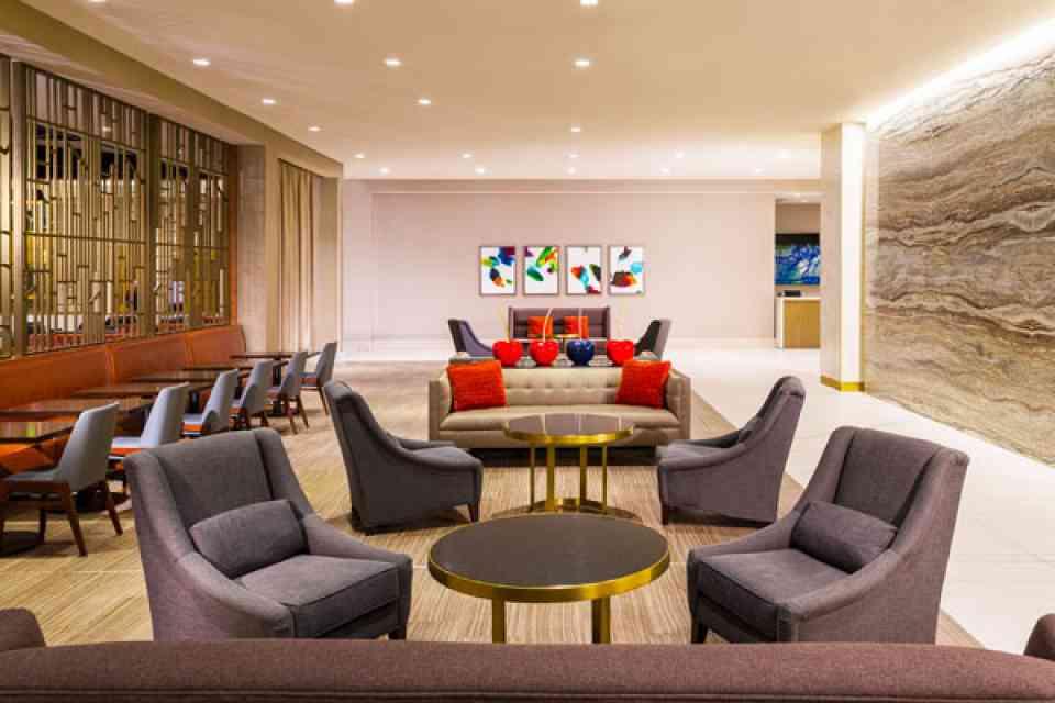 Hilton Lobby Seating Area