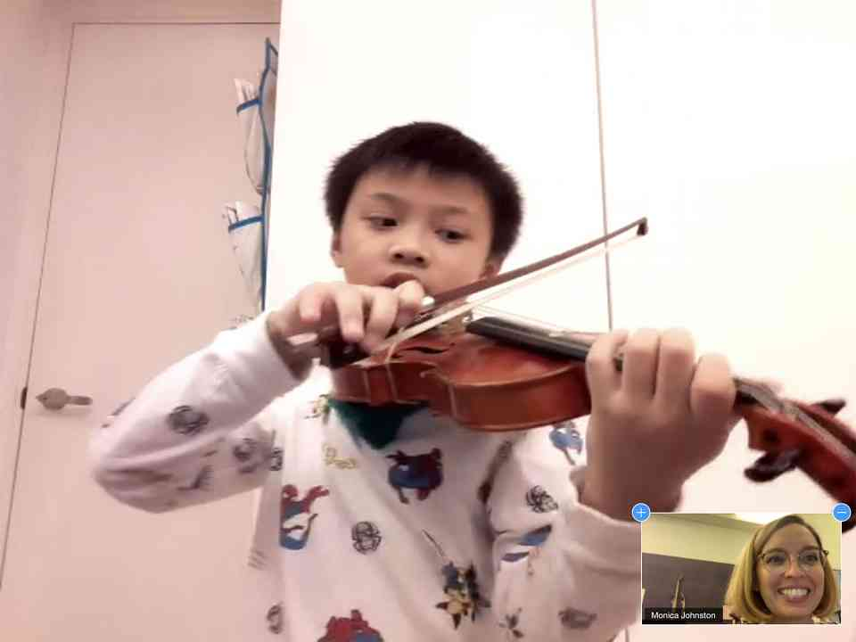 Student from Home Violin Lesson 2