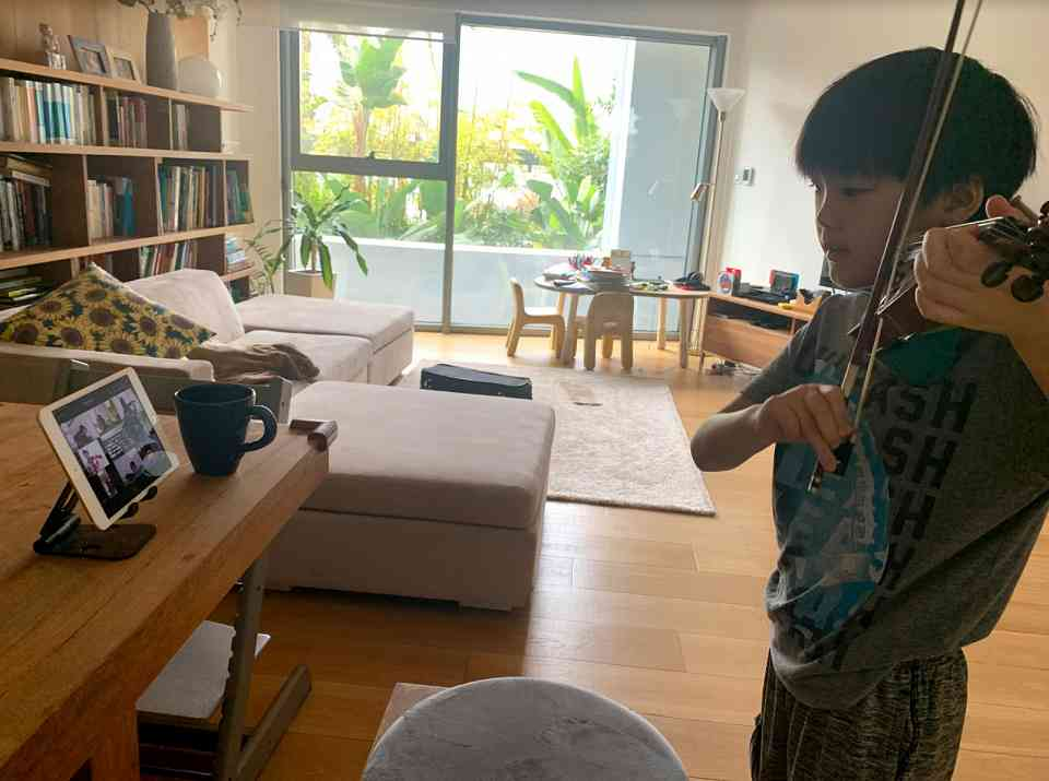 Student from Home  Violin Boy