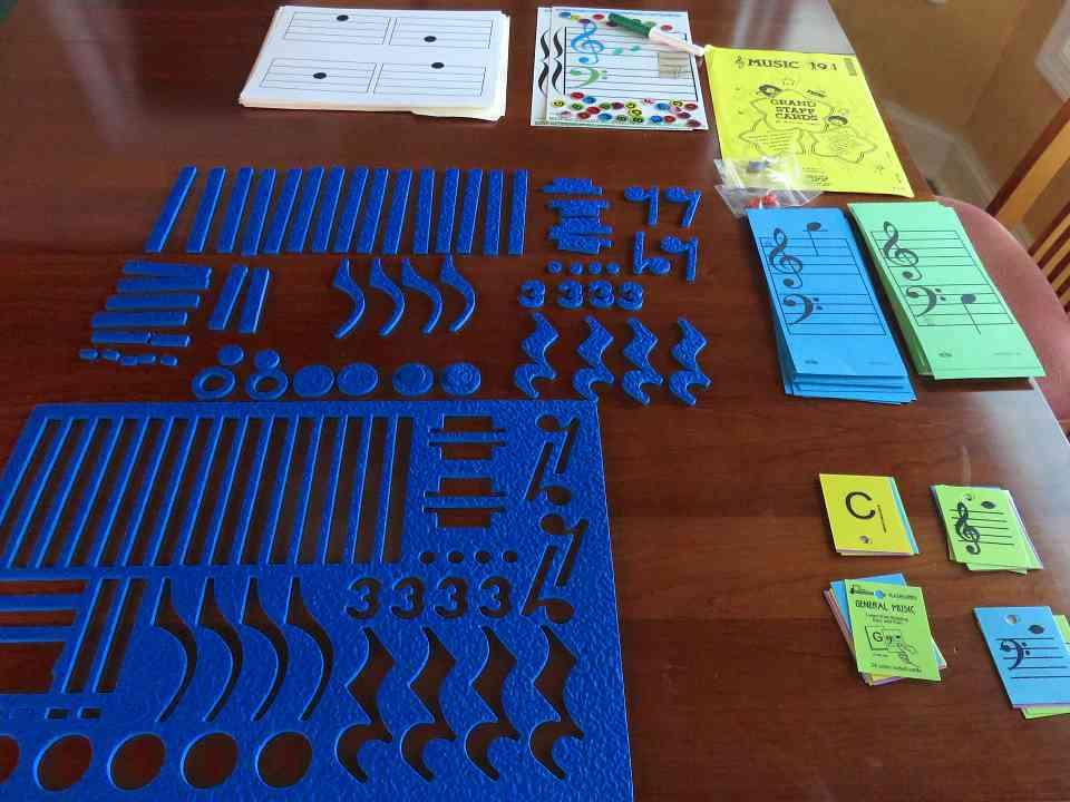 Blue Jello Rhythm Puzzle, Staff Cards, Flashcards & Bingo
