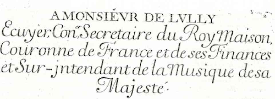 Marais Lully Dedication