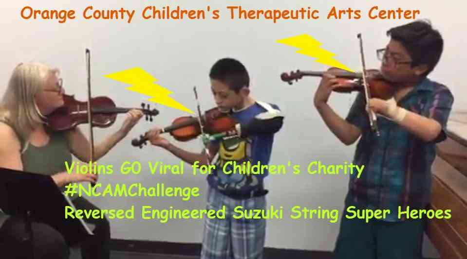 ViolinSuperheroes go Viral for children's charity