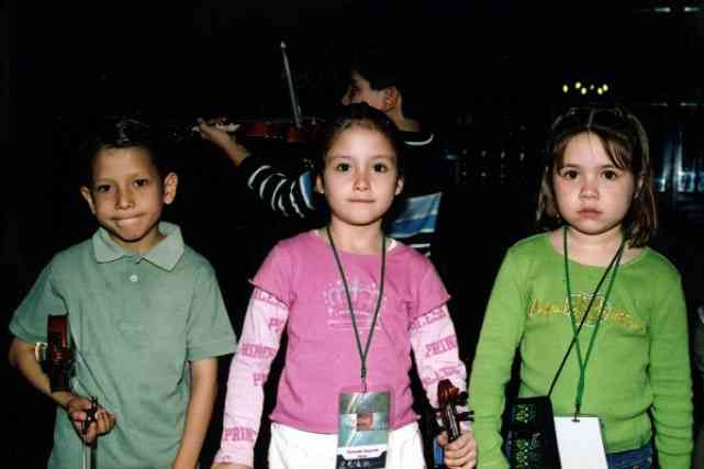 Three young festival participants