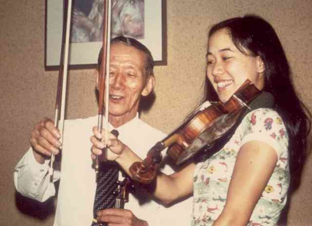Cathy Lee and Dr. Shinichi Suzuki