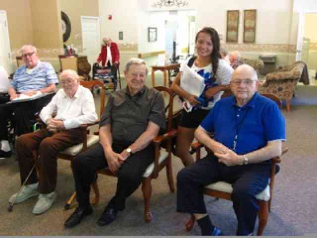 Arielle regularly played for residents at a nursing home in Jasper, IN, as a volunteer