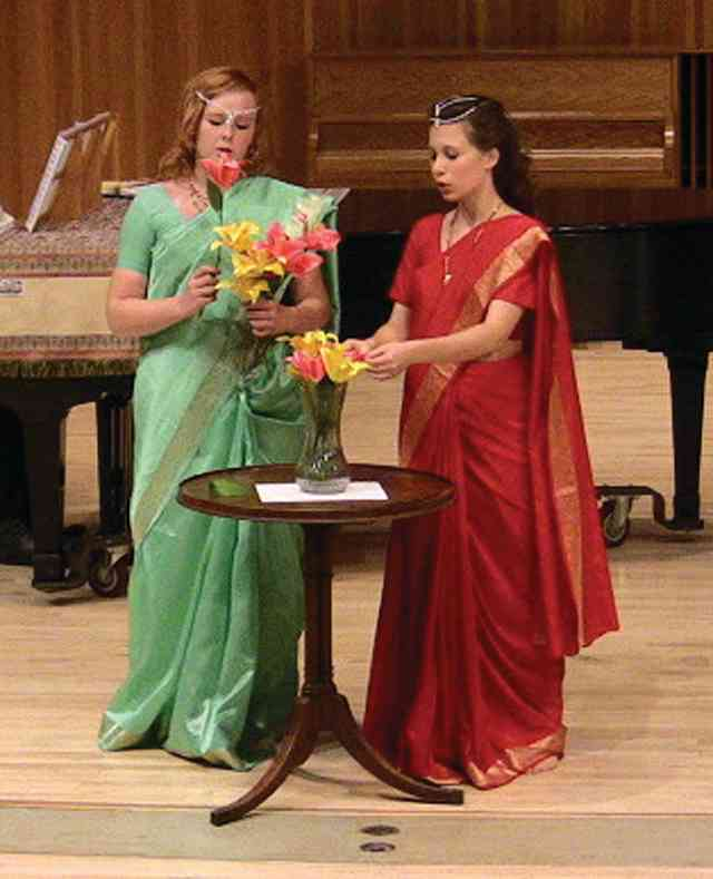 "Students Brit and Elizabeth, ""The Flower Duet"" from Lakme"