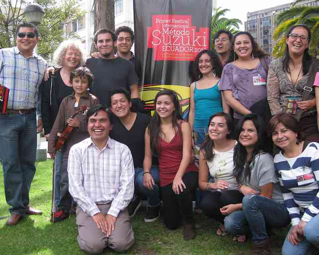 Participants in the first Ecuador Suzuki Festival