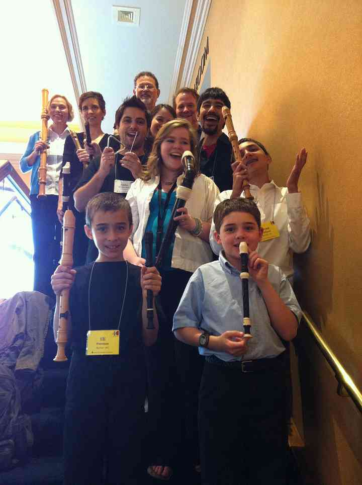 Student & Teacher Recorder Consort at 2012 Conference