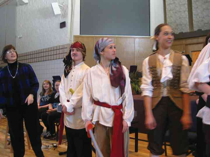"Voice students in ""The Pirate Song"""