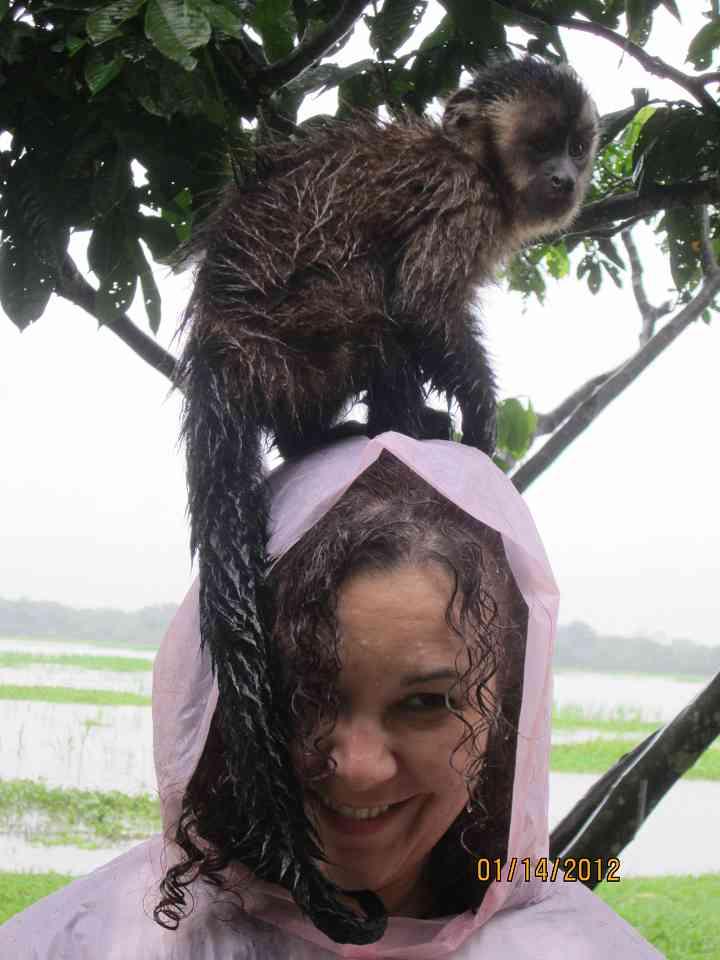 Kelly with monkey