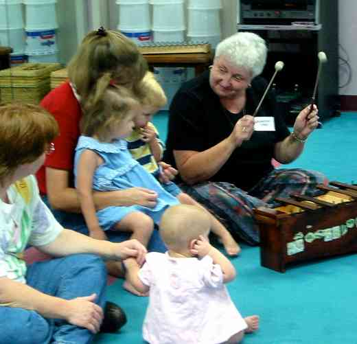Dorothy Jones teaching ECE Baby Class