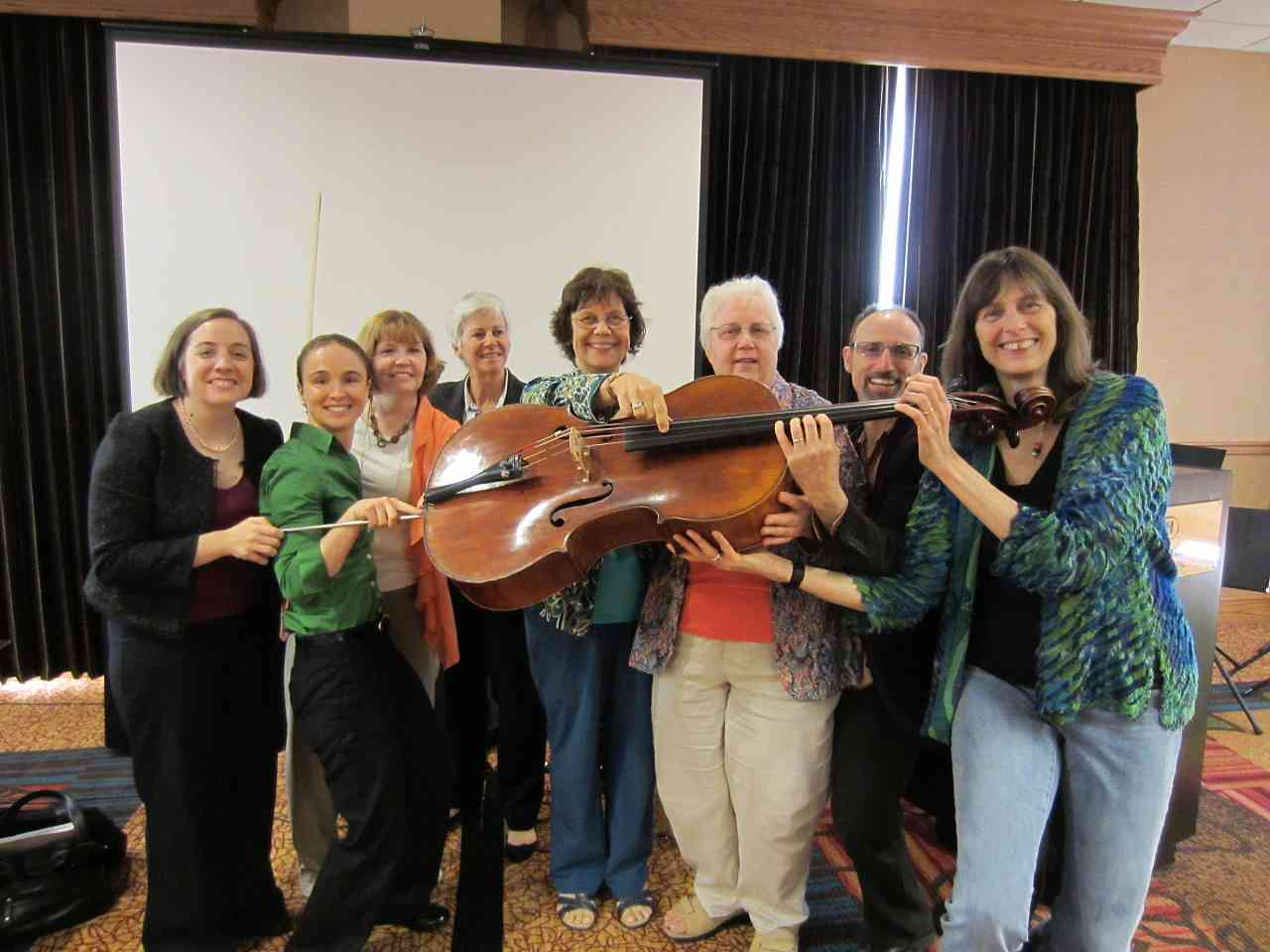 Suzuki cello teachers at the 2012 Conference