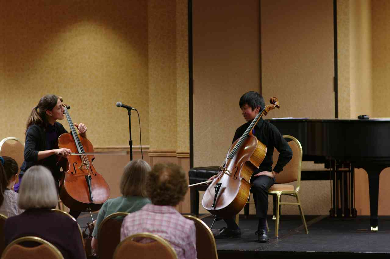 Cello master class with Julie Albers