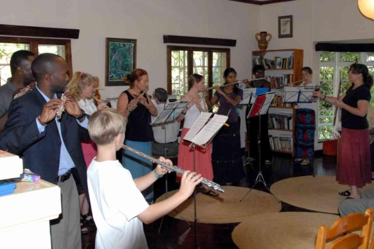 Suzuki flute concert in Arusha, Tanzania