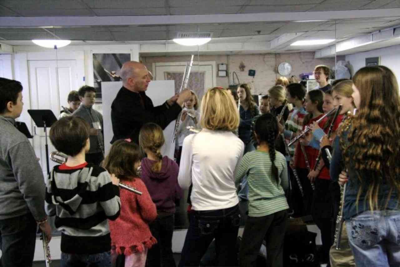 Flute students at the 2008 Brookline workshop