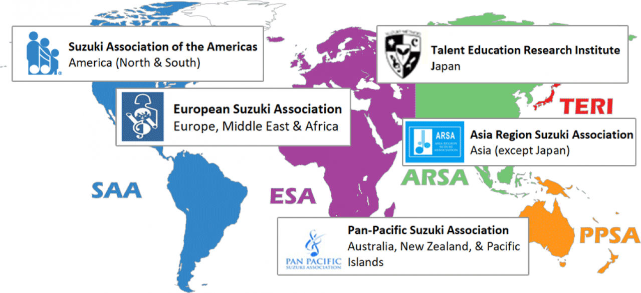 ISA Suzuki World Map